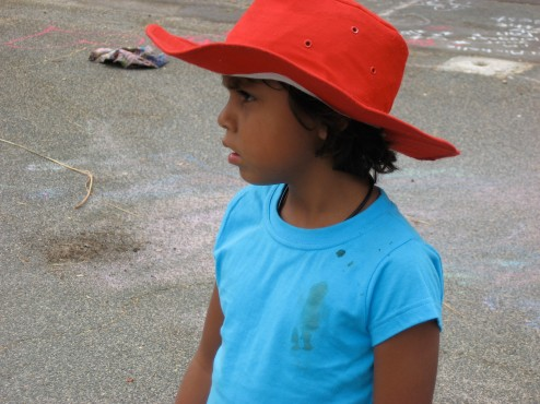 red hat girl in aussie