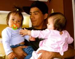 josh with babies